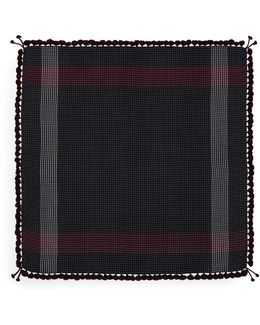 'the Nomadic Square' Houndstooth Lambswool Scarf