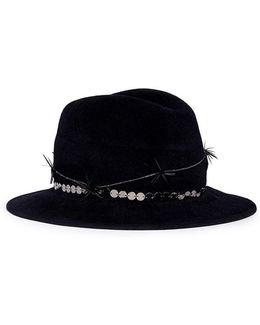 'reagan' Twisted Feather Felt Fedora Hat
