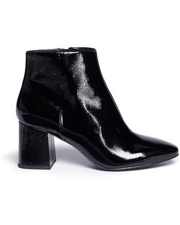 'heroin' Patent Leather Ankle Boots