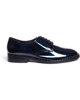 'wilco' Stud Welt Patent Leather Derbies