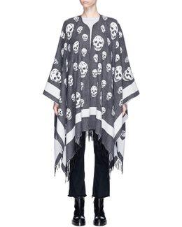 Skull Jacquard Wool-cashmere Cape