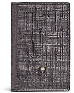 Skull Metallic Embossed Leather Pocket Organiser
