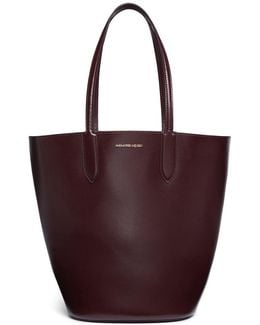 Leather Basket Tote