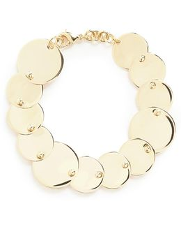 'pinned Paillette' Overlapping Disc Bracelet