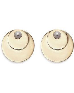 'pinned Paillette' Bead Disc Stud Earrings