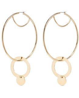 'nubia' Gold Vermeil Interlocking Hoop Earrings