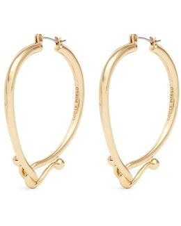 'thalia' Interlocking Hook Hoop Earrings