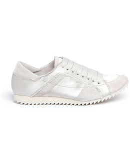'cristina' Suede Trim Silk Satin Sneakers