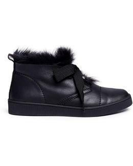 'parley' Lambskin Shearling Sneaker Chukka Boots