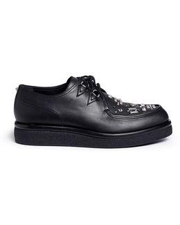 Stud Leather Derbies