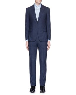 'gregory' Micro Check Wool Suit