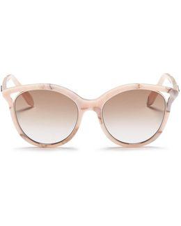 'cut Away Kitten' Marble Effect Cat Eye Sunglasses