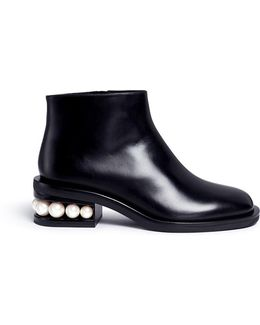 'casati Pearl' Leather Ankle Boots