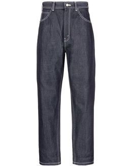 Relaxed Fit Raw Jeans