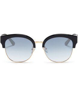 'skyfall' Metal Rim Acetate Browline Sunglasses
