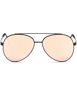 'avanti' Metal Square Mirror Sunglasses