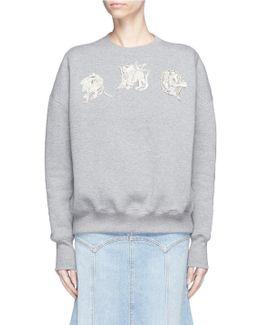 Embellished Mythical Logo Patch Sweatshirt