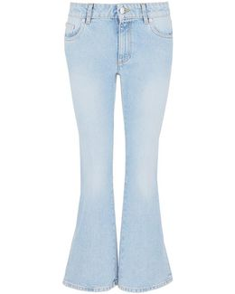 Cropped Bell-bottom Jeans