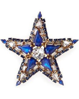 'american Graffiti' Swarovski Crystal Star Brooch