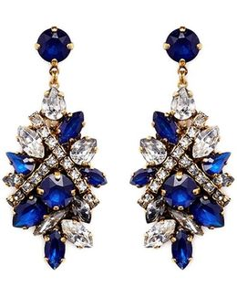 'parlor Trick' Swarovski Crystal Cluster Drop Earrings