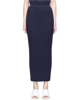 Rib Knit Maxi Skirt
