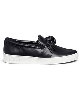'willa' Bow Leather Skate Slip-ons