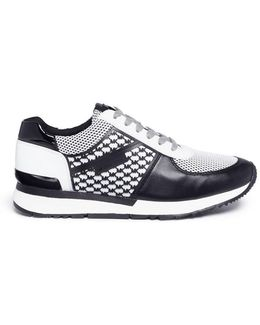 'allie' Logo Overlay Leather And Mesh Sneakers