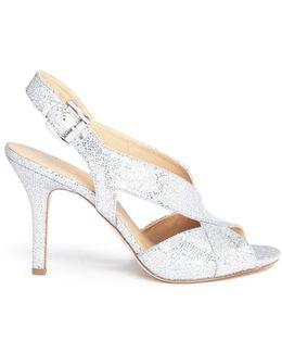 'becky' Glitter Mesh Slingback Sandals