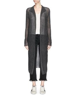 Cashmere Open Knit Robe Cardigan