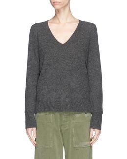 Cashmere Thermal Stitch Knit Sweater