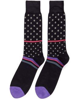 'lido' Polka Dot Stripe Socks