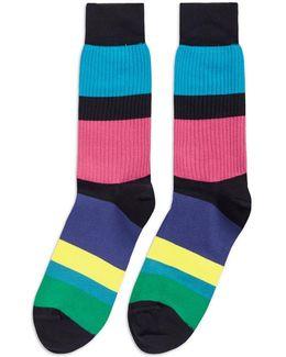 'cycle Stripe' Socks