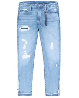 'timmy' Distressed Cropped Jeans