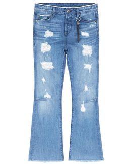 'bellatula' Cropped Flared Jeans