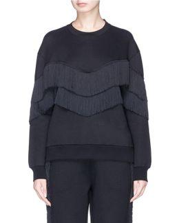 Fringe Trim Sweatshirt