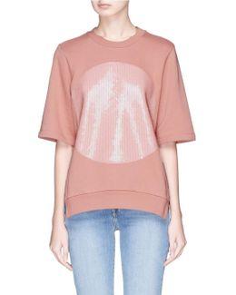 Sequin Circle Short Sleeve Sweatshirt