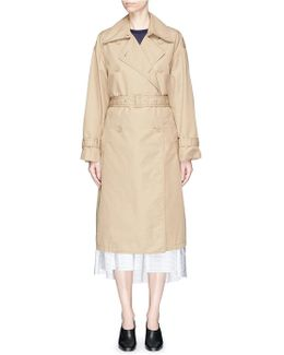 Cotton Twill Belted Trench Coat