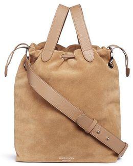 'hazel' Drawstring Suede Crossbody Bag