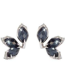 Crystal Haze Diamond 18k White Gold Earrings