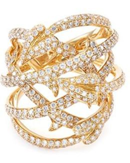 'poison Ivy Couture Set' Diamond 18k Yellow Gold Caged Ring