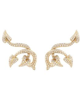 'poison Ivy Couture Set' Diamond 18k Yellow Gold Earrings