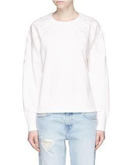 Cutwork Embroidery French Terry Sweatshirt