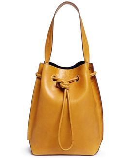 'the Keaton' Leather Drawstring Shoulder Bag