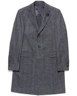 Wool-cashmere Herringbone Coat