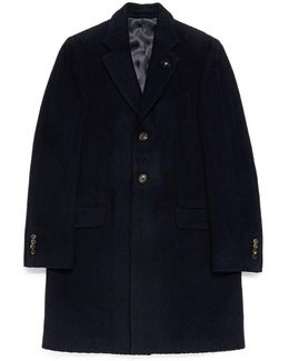 Cable Knit Jacquard Twill Coat