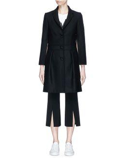 Virgin Wool-cashmere Twill Coat