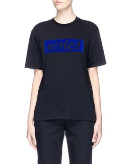 'strict' Velvet Flock Print T-shirt