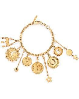 'coins' Logo Charm Bracelet