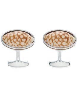 Sieve Cowrey Shell Cufflinks