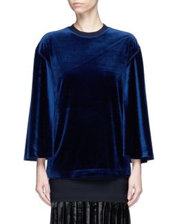 Velour Flared Top